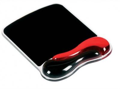 """Gélová podložka pod myš """"DuoGel"""", červená/čierna"""