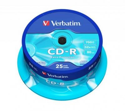 CD-R 700 MB, 80min, 52x, cake box, DataLife