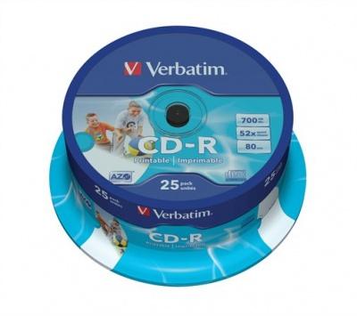 "CD-R 700 MB, 80min, 52x, široko potl., ""ID"", cake box"