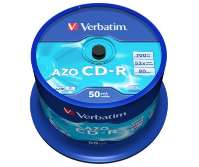 CD-R 700 MB, 80min, 52x,DataLifePlus-Super AZO, cake box