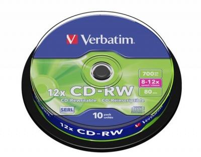 CD-RW 700MB, 8-10x, prepisovateľné, cake box