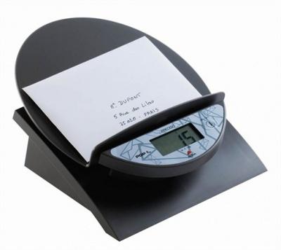 """Elektronická váha na listy """"PREPOP"""", sivá farba, 1 kg"""