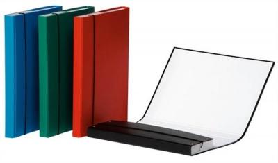 Box na dokumeny, 30 mm, PP/kartón, A4, DONAU, červený