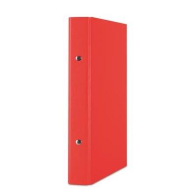 Krúžkový šanón, 2 krúžky, 30 mm,  A5, PP/kartón, DONAU, červený