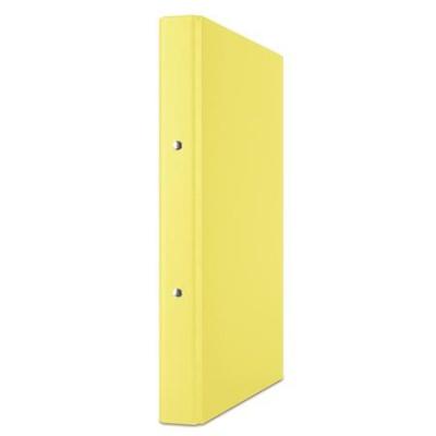 Krúžkový šanón, 2 krúžky, 35 mm, A4, PP/kartón, DONAU, žltý