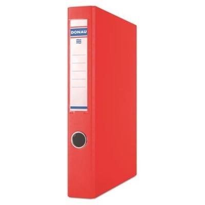 Krúžkový šanón, 2 krúžky D, 45 mm, A4, PP/kartón, DONAU, červený