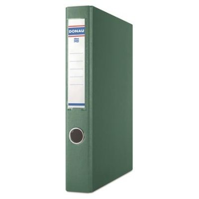 Krúžkový šanón, 2 krúžky D, 45 mm, A4, PP/kartón, DONAU, zelený