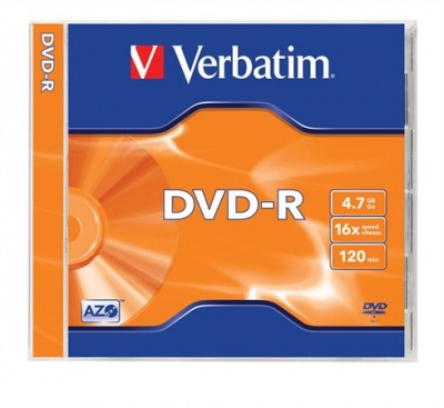 DVD-R 4,7 GB, 16x, v norm obale (AZO)