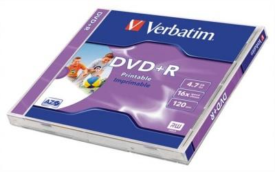 DVD-R 4,7 GB, 16x, široko potlačiteľné, matné