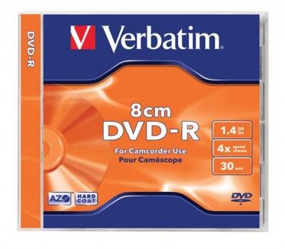 DVD-R 8 cm, 1,4 GB, 4x,  klasický obal