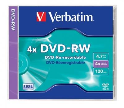 DVD-RW 4,7 GB, 4x, klasický obal (SERL)