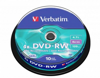 DVD-RW 4,7 GB, 4x, cake box (SERL)