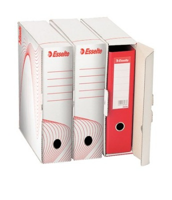 """Archívny box, na šanóny, 97 mm, recyklovaný kartón, ESSELTE """"Standard"""" , biely"""