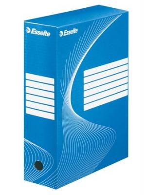 """Archívny box, A4, 100 mm, kartón, ESSELTE """"Standard"""", modrý"""