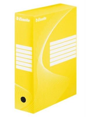 """Archívny box, A4, 100 mm, kartón, ESSELTE """"Standard"""", žltý"""