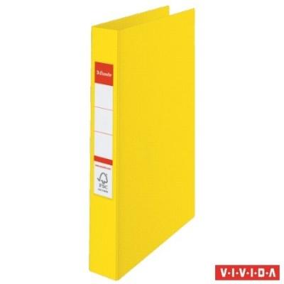 """Krúžkový šanón """"Standard"""", 4 krúžky, 35mm, žltý"""