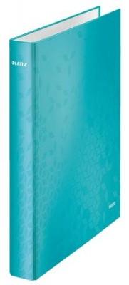 "Krúžkový šanón, 2 D krúžky, 40 mm, A4 Maxi, kartón, lesklý, LEITZ ""Wow"", ľadovo modrý"