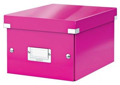 "Archivačná krabica ""CLICK&STORE"", A5, lakový lesk, ružová"
