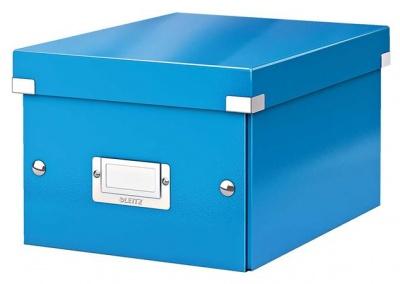 """Archivačná krabica """"CLICK&STORE"""", A5, lakový lesk, modrá"""