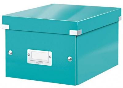 """Archivačná krabica, A5, lakový lesk, LEITZ """"Click&Store"""", ľadovo modrá"""