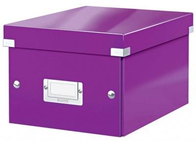 """Archivačná krabica, A5, lakový lesk, LEITZ """"Click&Store"""", fialová"""