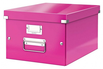 "Archivačná krabica ""CLICK&STORE"", A4, lakový lesk, ružová"