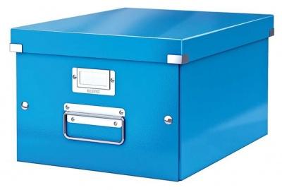 """Archivačná krabica """"CLICK&STORE"""", A4, lakový lesk, modrá"""