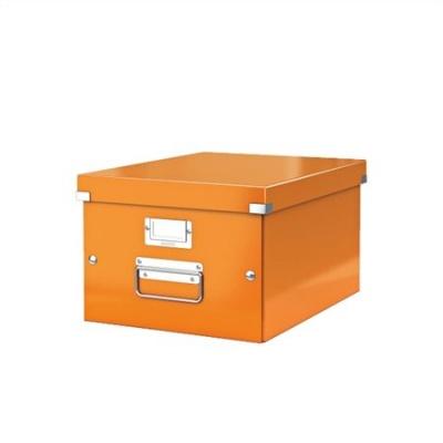 """Archivačná krabica """"CLICK&STORE"""", A4, lakový lesk, oranžová"""