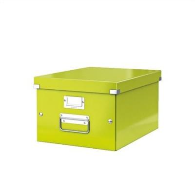 """Archivačná krabica """"CLICK&STORE"""", A4, lakový lesk, zelená"""