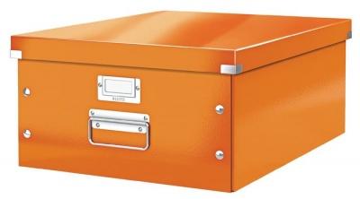 """Archivačná krabica, A3, lakový lesk, LEITZ """"Click&Store"""", oranžová"""