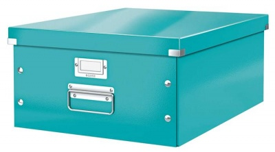 """Archivačná krabica, A3, lakový lesk, LEITZ """"Click&Store"""", ľadovo modrá"""