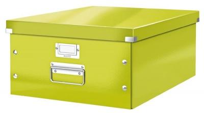 """Archivačná krabica, A3, lakový lesk, LEITZ """"Click&Store"""", zelená"""