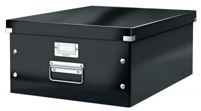 """Archivačná krabica, A3, lakový lesk, LEITZ """"Click&Store"""", čierna"""