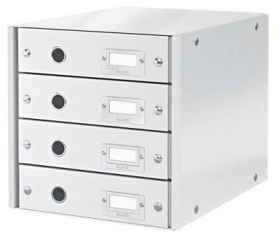 """Box na dokumenty, laminovaný kartón, 4 zásuvky, LEITZ """"Click&Store"""", biely"""