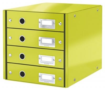 """Box na dokumenty, laminovaný kartón, 4 zásuvky, LEITZ """"Click&Store"""", zelený"""