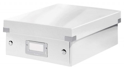 """Odkladací box, organizačný, PP, kartón, veľkosť:S, LEITZ """"Click&Store"""", biely"""