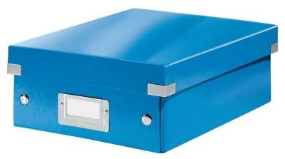 """Odkladací box, organizačný, PP, kartón, veľkosť:S, LEITZ """"Click&Store"""", modrý"""