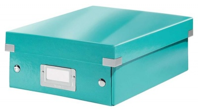 """Odkladací box, organizačný, PP, kartón, veľkosť:S, LEITZ """"Click&Store"""", ľadovo modrý"""