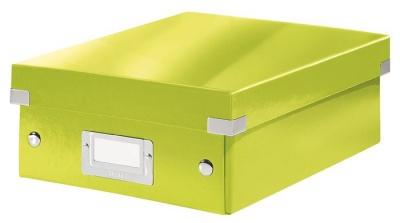 """Odkladací box, organizačný, PP, kartón, veľkosť:S, LEITZ """"Click&Store"""", zelený"""