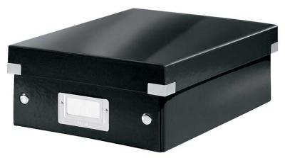 """Odkladací box, organizačný, PP, kartón, veľkosť:S, LEITZ """"Click&Store"""", čierny"""
