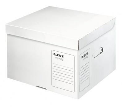 """Archívny kontajner, veľkosť M, recyklovaný kartón, LEITZ """"Infinity"""", biely"""