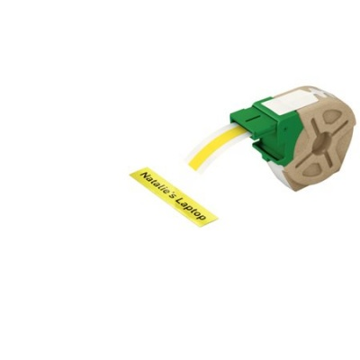 "Etikety, plastové pásky, 12 mm x 10 m, LEITZ ""Icon"", žlté"