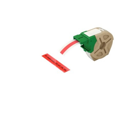 "Etikety, plastové pásky, 12 mm x 10 m, LEITZ ""Icon"", červené"