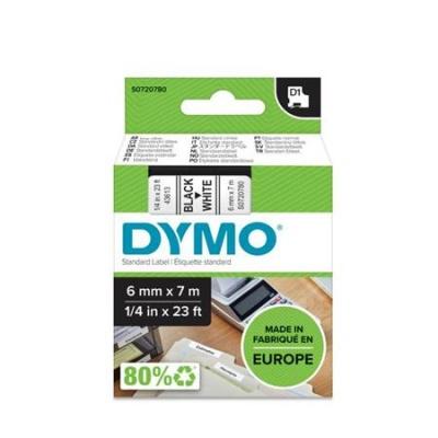 DYMO štítkovacia kazeta 6x7m čierna/biela