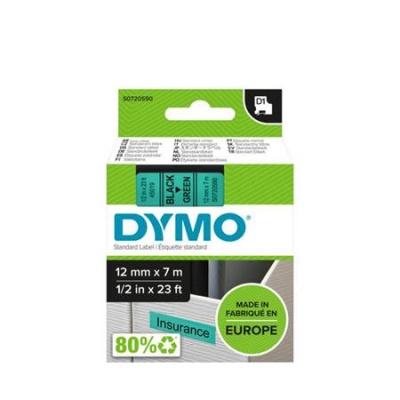 DYMO štítkovacia kazeta 12x7m čierna/zelená