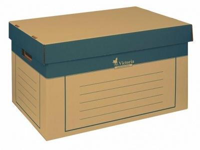 Archívny kontajner, 320x460x270 mm, kartónový, VICTORIA, prírodný