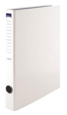 Krúžkový šanón, 2 krúžky, 35 mm, A4, PP/kartón, VICTORIA, biely
