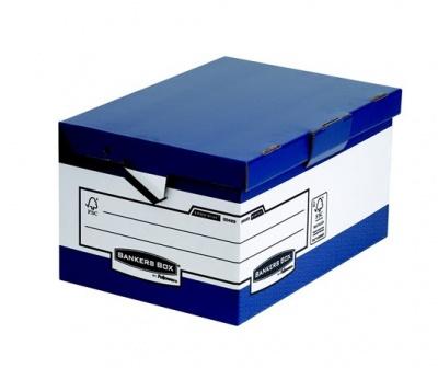 """Archívny kontajner, kartónový, ergonomický úchyt, otváranie veka nahor, """"BANKERS BOX® by FELLOWES®"""", modrý"""