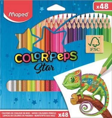 """Farebné ceruzky, MAPED """"Color`Peps """", 48 rôznych farieb"""