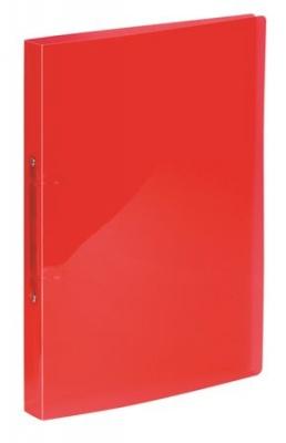 "Krúžkový šanón, 2 krúžky, 20 mm, A4, PP, VIQUEL ""Propyglass"",červený"